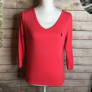 Ralph Lauren sport red shirt size L
